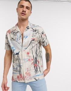 Koszula topman z nadrukiem z krótkim rękawem