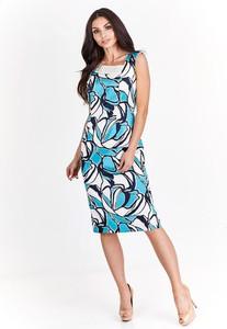 Sukienka Fokus z dekoltem w kształcie litery v w geometryczne wzory bez rękawów