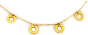 Lovrin Złoty naszyjnik 333 choker z kółeczkami ringi
