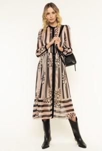 Sukienka Twinset z długim rękawem maxi