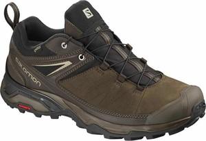 Zielone buty trekkingowe Salomon sznurowane