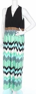 Sukienka London Style bez rękawów z dekoltem w kształcie litery v prosta