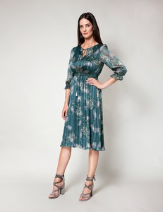 Zielona sukienka Molton z tkaniny w stylu boho
