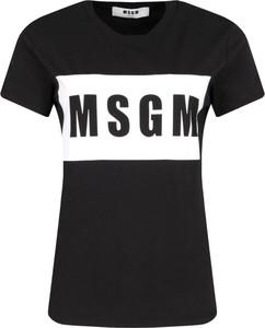 Czarny t-shirt MSGM z krótkim rękawem