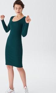 Zielona sukienka House mini z długim rękawem ołówkowa