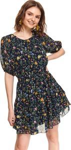Sukienka Top Secret z okrągłym dekoltem koszulowa z krótkim rękawem