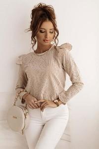 Bluzka Shopaholics Dream z długim rękawem w stylu casual z okrągłym dekoltem
