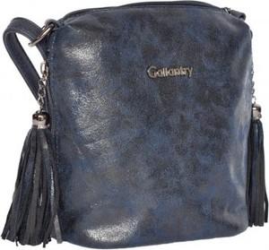 Granatowa torebka Gallantry przez ramię średnia w młodzieżowym stylu