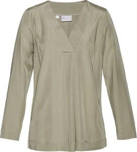 Bluzka bonprix bpc selection premium z dekoltem w kształcie litery v z długim rękawem