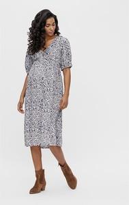 """Mama Licious Sukienka ciążowa """"Silja"""" w kolorze biało-niebieskim"""