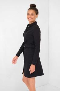 Czarna sukienka ORSAY z bawełny z kołnierzykiem mini