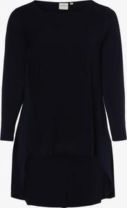 Granatowa bluzka Junarose z okrągłym dekoltem w stylu casual