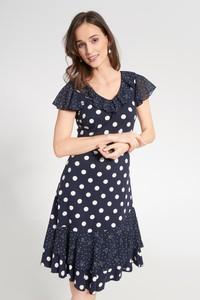 Sukienka QUIOSQUE mini z dekoltem w kształcie litery v