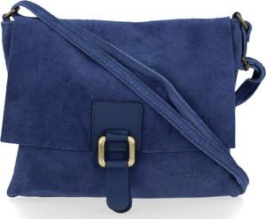 Niebieska torebka VITTORIA GOTTI z zamszu