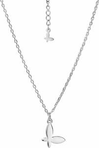SADVA Naszyjnik srebrny z motylem