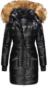 Czarny płaszcz Navahoo w stylu casual z plaru