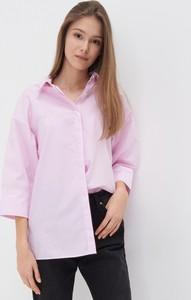 Fioletowa koszula Sinsay w stylu casual z długim rękawem