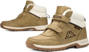 Brązowe buty dziecięce zimowe Kappa