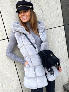 Kamizelka Ricca Fashion w stylu casual długa