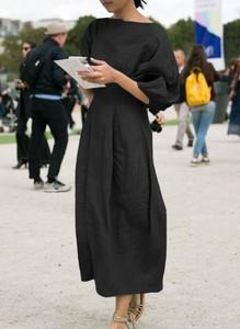 Sukienka Sandbella z długim rękawem maxi