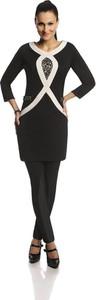 Czarna tunika Fokus w stylu casual z tkaniny
