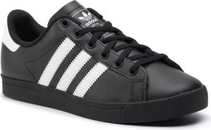 Czarne trampki Adidas z płaską podeszwą niskie