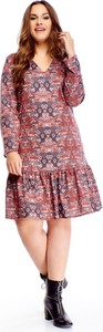 Sukienka N/A z długim rękawem w stylu casual dla puszystych
