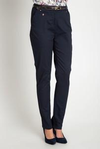 Niebieskie spodnie QUIOSQUE z bawełny