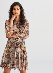 Sukienka Reserved z długim rękawem mini w stylu casual
