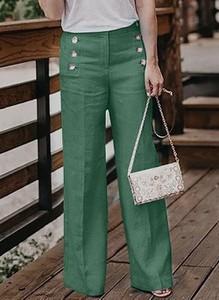 Zielone spodnie Cikelly ze sztruksu