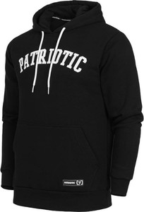Czarna bluza Patriotic z bawełny w młodzieżowym stylu