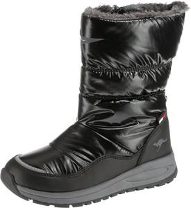 Czarne buty dziecięce zimowe Kangaroos