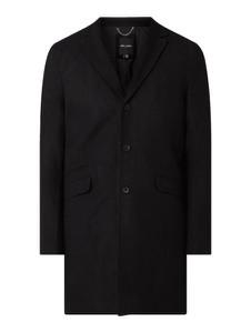 Czarny płaszcz męski Only & Sons z wełny