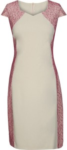 Sukienka Fokus z okrągłym dekoltem midi