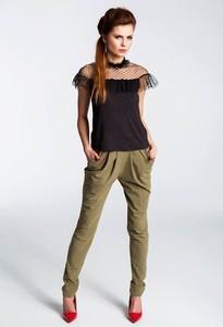 Bluzka Anna Solan w stylu casual z krótkim rękawem