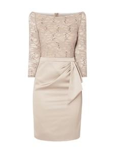 Sukienka Marie Noir w stylu glamour mini