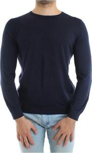 Niebieski sweter Jurta z dzianiny w stylu casual