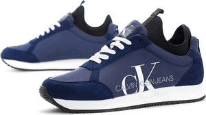 Buty sportowe Calvin Klein z płaską podeszwą sznurowane