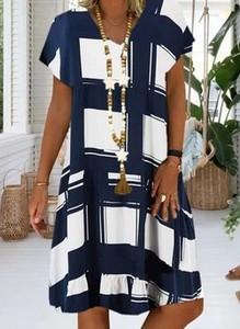 Sukienka Cikelly z krótkim rękawem w stylu casual mini