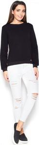 Czarna bluzka Katrus z dresówki