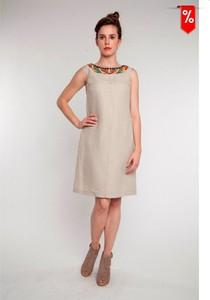 Sukienka Metafora z okrągłym dekoltem