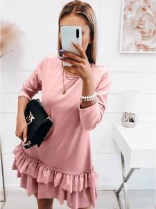 Różowa sukienka magmac.pl mini z weluru