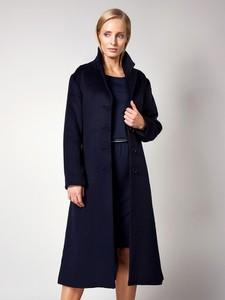 Granatowy płaszcz Molton z wełny