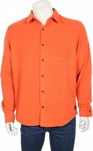 Pomarańczowa koszula Jack & Jones z plaru z długim rękawem