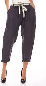 Spodnie Manoukian z lnu w stylu klasycznym