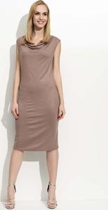 Sukienka Makadamia dopasowana midi w stylu casual