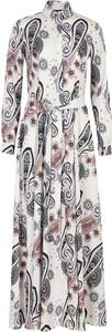 Sukienka Nife maxi koszulowa z kołnierzykiem