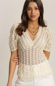 Bluzka Renee z krótkim rękawem z dekoltem w kształcie litery v
