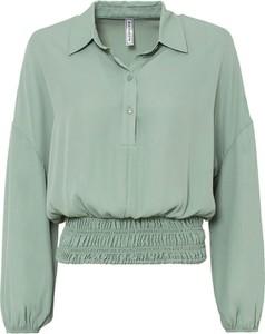 Zielona bluzka bonprix w stylu casual z dekoltem w kształcie litery v