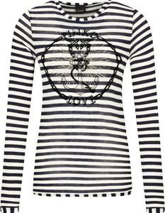 Bluzka Pinko z okrągłym dekoltem z długim rękawem w stylu casual